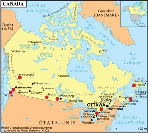 Villes principales du Canada Arts et Voyages