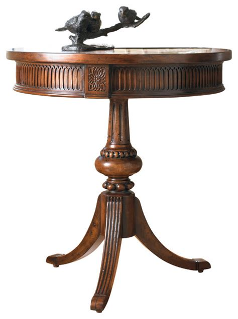traditional accent tables hooker furniture round pedestal accent table reviews