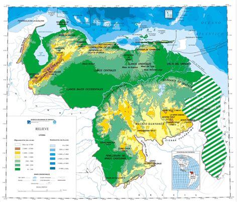 imagenes satelital de venezuela mapa fisico venezuela