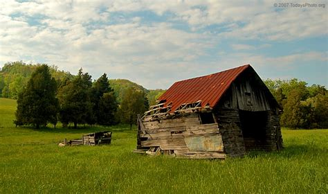 Barns And Sheds by A Crumbling Barn Shed