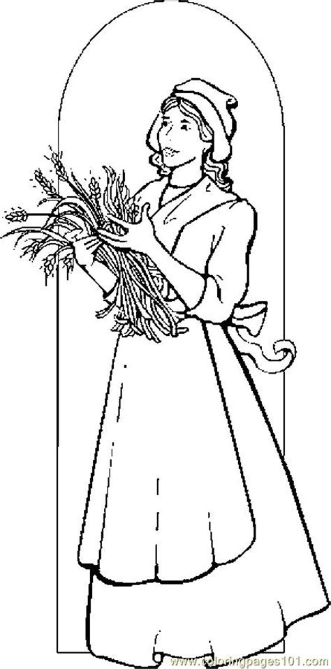 colonial girl coloring page colonial women coloring pages
