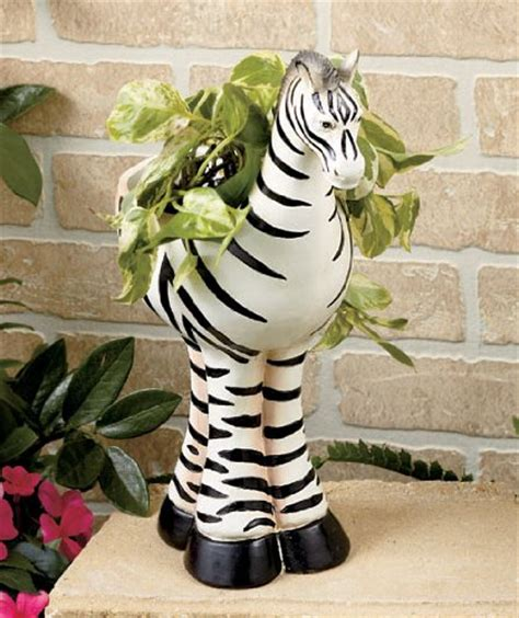 animal planters safari animal planter zebra
