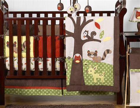 woodland forest animals owl deer tree baby boy nature