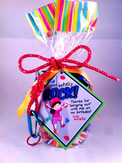 Goobag For A  Year Old Rock Climbing Party Stuffed