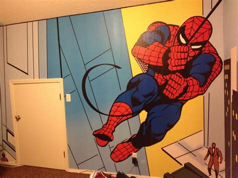 spider man comics character giant wall mural by homewallmurals 17 best images about ideas for new super hero room on