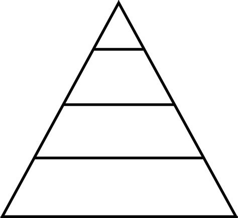 Blank Food Pyramid Template by The Memoirs Of A