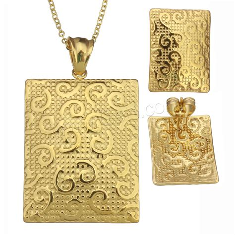 Handbag 1503 2in fashion stainless steel jewelry sets earring necklace with