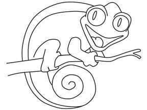 chameleon coloring page az coloring pages