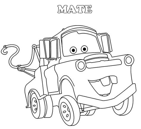coloring pictures of mater from cars tow mater free colouring pages