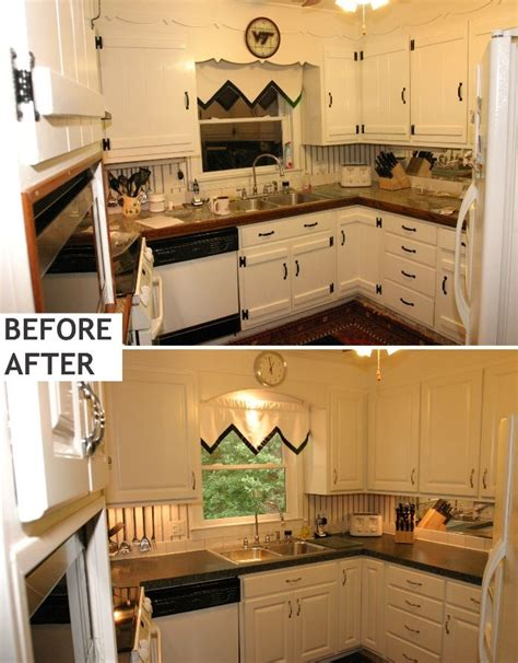 Resurfaced Kitchen Cabinets Before And After | pin by jennifer brock on kitchen cabinet resurfacing and