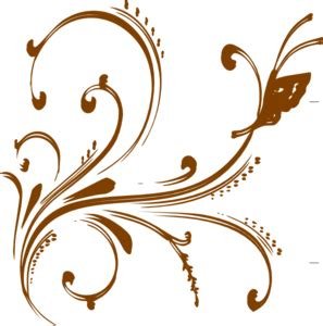 gold floral design with butterfly clip art at clker com vector clip art online royalty free
