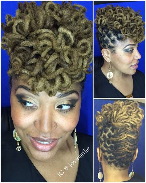 Dreadlock Pin Up Hairstyles by Curly Loc Pompadour My Loc Styles And Experiments