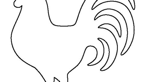 chicken stencil template rooster pattern use the printable outline for crafts
