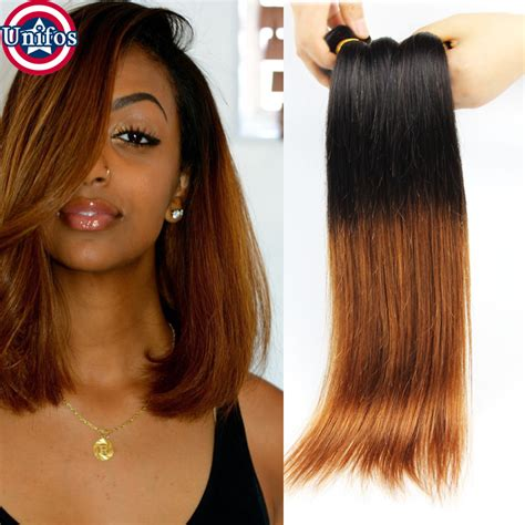 Blonde Ombre Hair Weave | peruvian ombre hair straight 4 bundles ombre blonde human