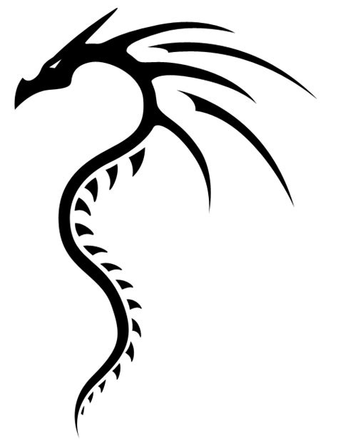 simple dragon tattoo designs simple tribal clipart best