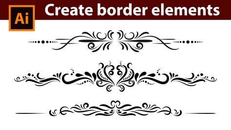 border decorative vintage elements adobe illustrator tutorial how to design vintage border