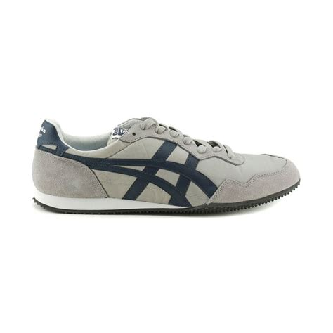 tiger athletic shoes mens onitsuka tiger serrano athletic shoe gray navy