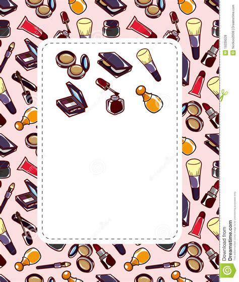makeup cartoon wallpaper cartoon makeup beauty card stock vector image of