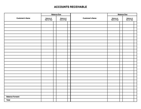 accounts payable ledger template formatted business general ledger template