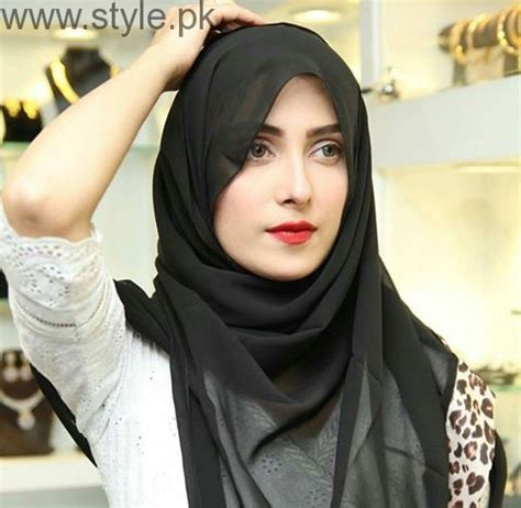 Ayeza Khan in Rabaya Hijab and Abaya