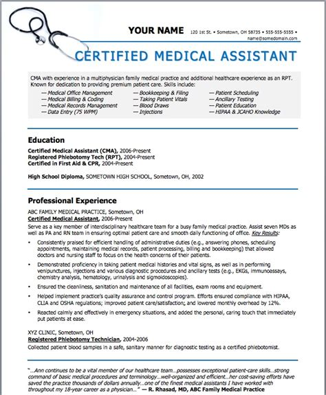 Physician Assistant Resume Template by Sle Resumes For Assistant Sle Resumes