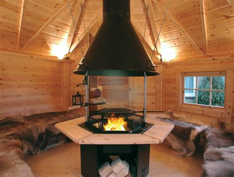 wooden barbecue house