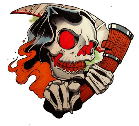 new school reaper tattoo how to draw a grim reaper by thebrokenpuppet youtube