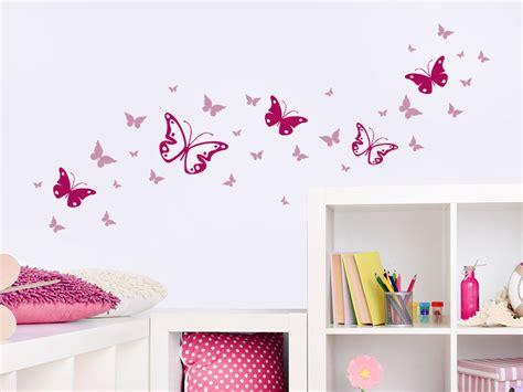 Fairy Wall Stickers wandtattoo zweifarbiges schmetterlinge set bei wandtattoo de
