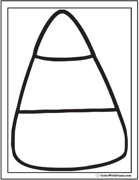 corn coloring pages for thanksgiving candy corn coloring page