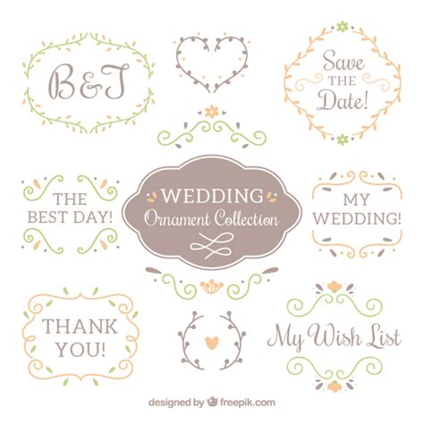 Wedding Ornaments by Wedding Ornaments Collection Vector Free
