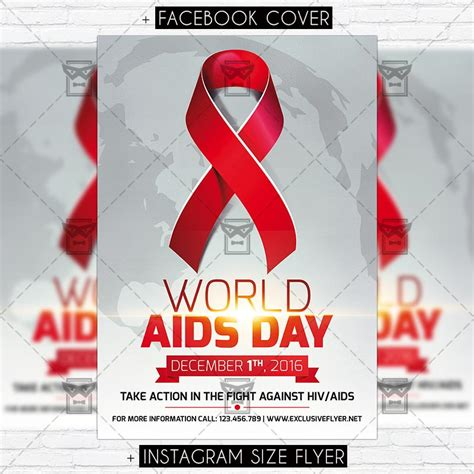 aids template world aids day vol 2 premium flyer template