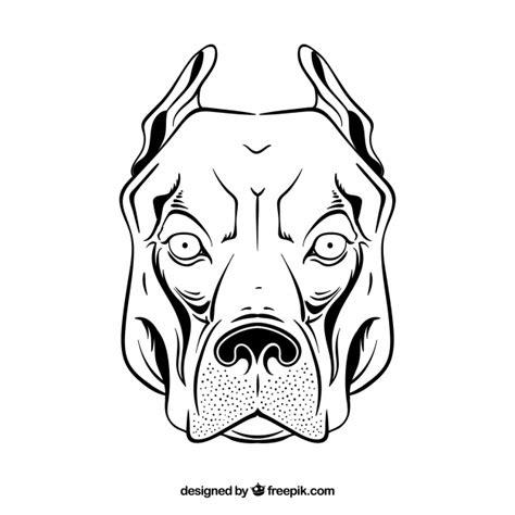 imagenes para dibujar de perros pitbull pitbull cabeza dibujo vector icono descargar vectores gratis
