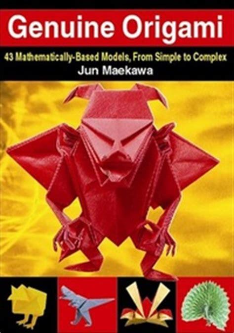 Origami Book Cover - genuine origami by jun maekawa book review gilad s