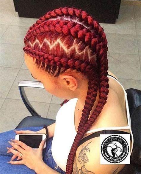 Red Cornrow Braided Hair   31 stylish ways to rock cornrows rocks most beautiful
