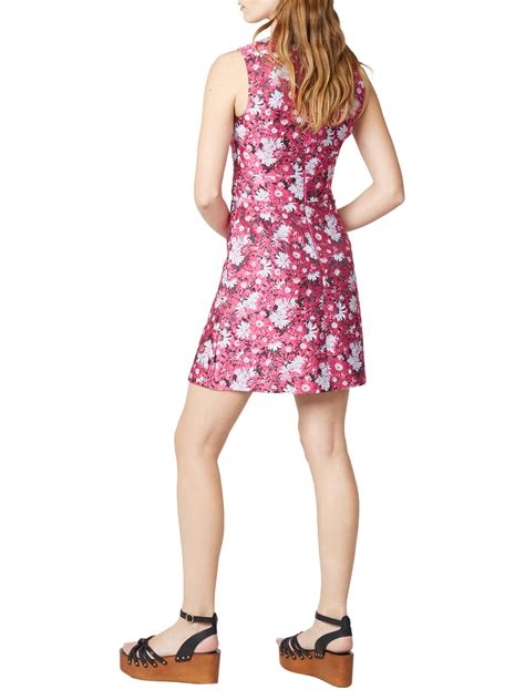 Dress Of The Day Jacquard Dress by Warehouse Floral Jacquard Dress Stunning Pink Neck