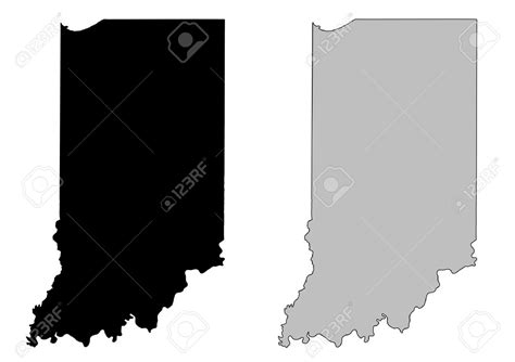 indiana map clipart clipground