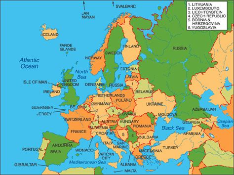 europe complete map complete map of europe