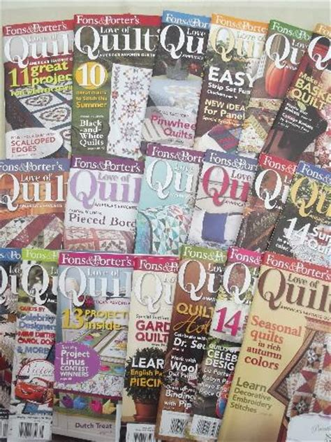 Quilt It For Magazine by Lot Quilt Pattern Quilting Magazines 30 Back Issues