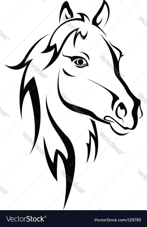 horse silhouette royalty free vector image vectorstock