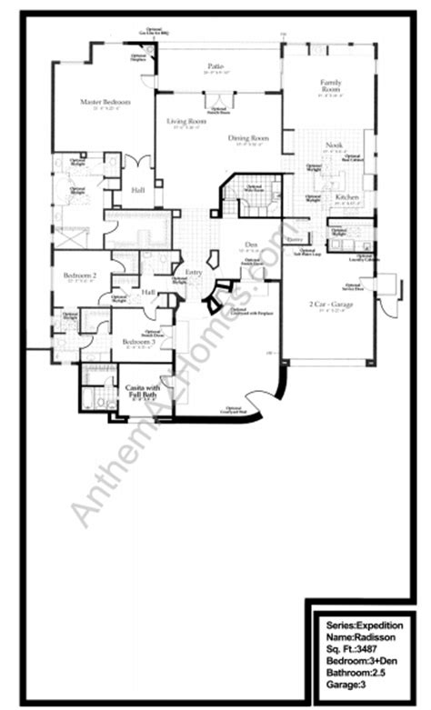 country club floor plans radison