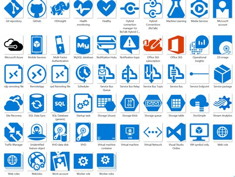 visio web service icon microsoft azure cloud and enterprise symbol icon set