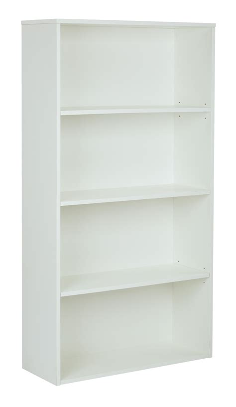 bookcase with adjustable shelves quot prado 60 quot quot 4 shelf bookcase with 3 4 quot quot shelves and 2