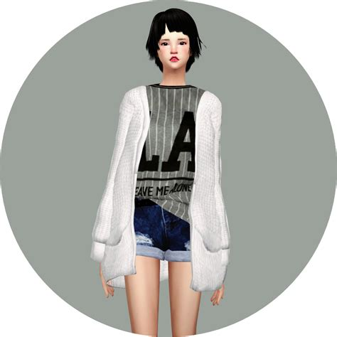 0902 Dress Ribbon Fit L Cc acc loose fit cardigan 루즈핏 가디건 악세사리 여자 의상 sims4 marigold