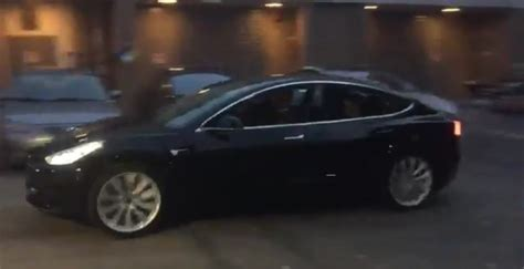 first release candidate tesla model 3 driven video