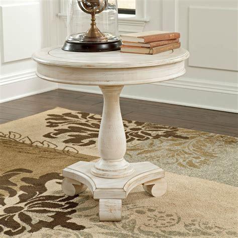 signature design by ashley mirimyn white round accent signature design by ashley mirimyn round accent table