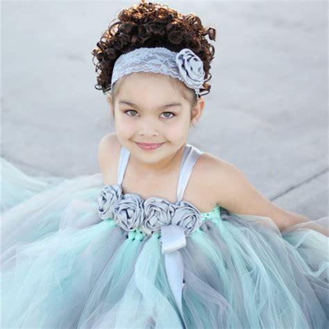 Dress Princess Kid Maroon Mint mint green flower princess dress kid pageant festival wedding bridesmaid tutu dress