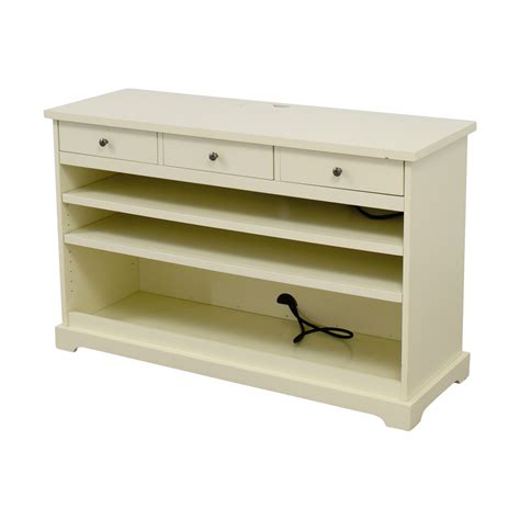 pottery barn media cabinet white 90 off pottery barn pottery barn white media console