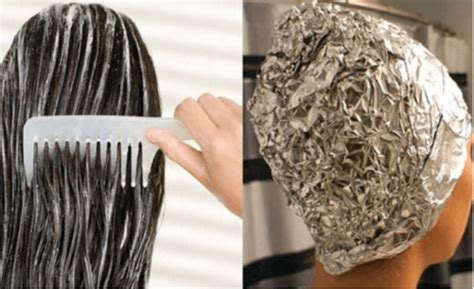 Kitchen Foil Hair Before Washing Your Hair You Should Apply Aluminum Foil