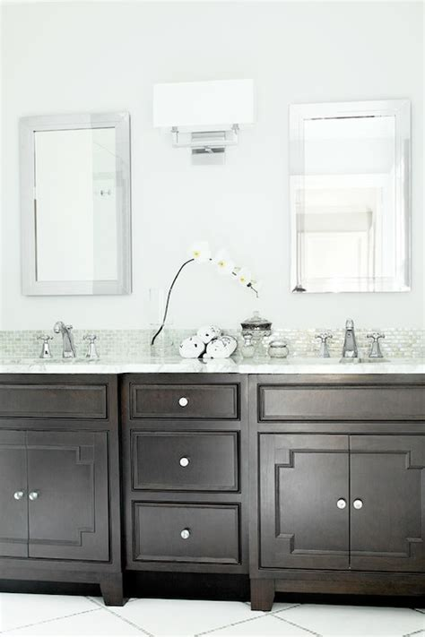 Black And Grey Home Decor by Dark Brown Washstand Transitional Bathroom Benjamin
