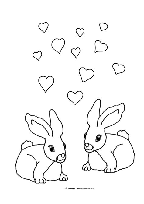 valentine bunny coloring page 11 valentine s day coloring pages